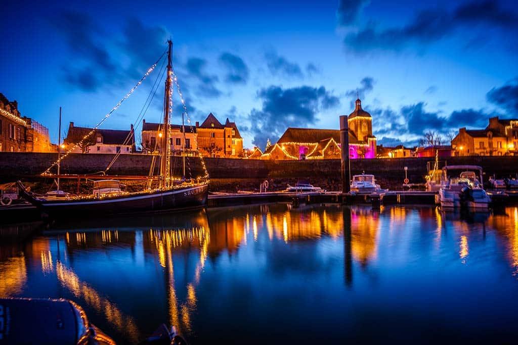 Découvrez les illuminations du port de Piriac sur Mer